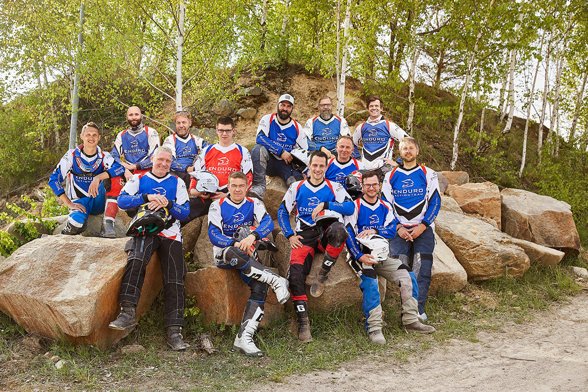 Teamfoto Enduro Action Team